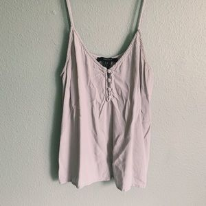 Forever 21 Button Down Tank Top